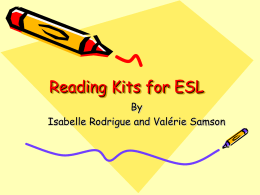 Reading Kits for ESL