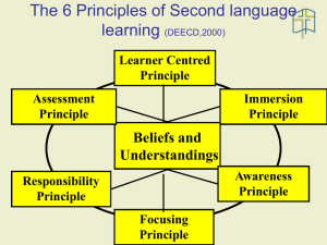 Principles of Second language learning