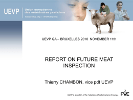 Meat inspection - Federation of Veterinarians of Europe