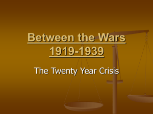 Between the Wars 1919-1939
