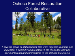 Ochoco Forest Restoration Collaborative presentation