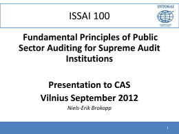 Fundamental Principles of Public Sector Auditing for Supreme Audit