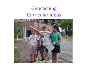 Geocaching curricular examples