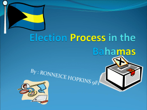 Election Process in the Bahamas