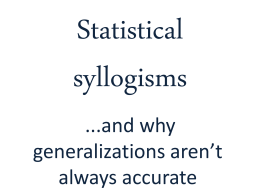 Statistical syllogisms