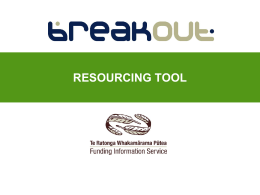 BreakOut Presentation - Funding Information Service