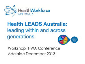 FHL-HWA-CONF-Nov2013-1 - Health Workforce Australia