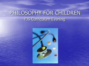 P4C Curriculum Evening Presentation