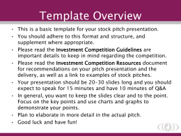 SWS Investment Competition Template