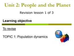 Revision - Population - Allerton Grange High School