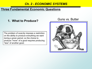 Ch. 2 - ECONOMIC SYSTEMS