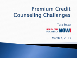 Premium Tax Credit Counseling - California Coverage & Health