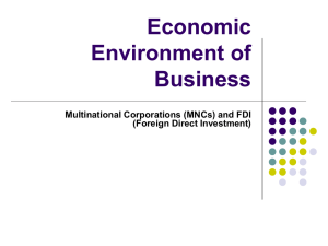 Economic Environment of Business