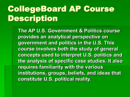 AP US Government Introduction