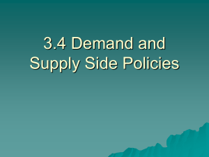 3.4.1 Demand Side Policies