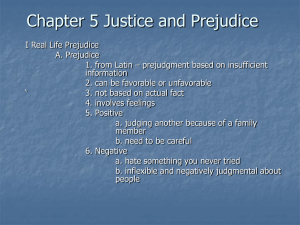 Chapter 5 Justice and Prejudice