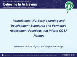 Foundations - North Carolina Early Learning Network (NC-ELN)