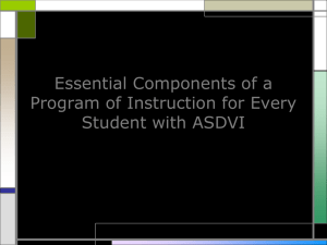 Critical Features of Quality Programs ASDVI Part 1