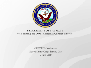 Re-Tuning the DON`s Internal Control Efforts