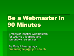 Training PPT - My Interactive Website