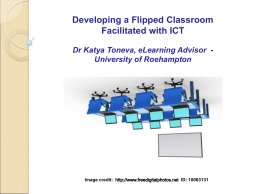 Flipped Classroom Presentation – 6th Nov 2013