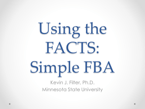 Using the FACTS: Simple FBA