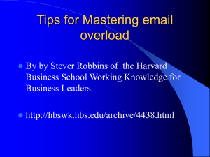 Tips for Mastering email overload