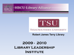 LIBRARY FEE INCREASE PROPOSAL AT TEXAS SOUTHERN