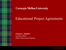 Education Project Agreements Slides