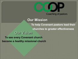 for Your Church`s Leadership - Evangelical Covenant Church