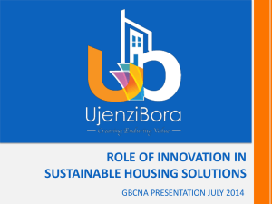 Role of Innovation in Housing Solutions