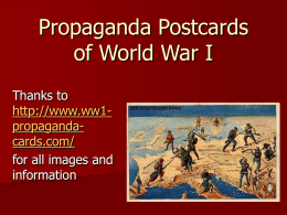 Propagand Postcards of WWI