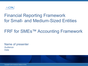 FRF for SMEs™ PowerPoint to Introduce Framework to