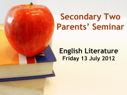 English and Literature - Bedok View Secondary School