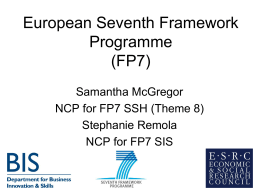 FP7 General Overview (Office document, 911kB)