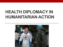 HEALTH DIPLOMACY IN HUMANITARIAN ACTION - ghd-net