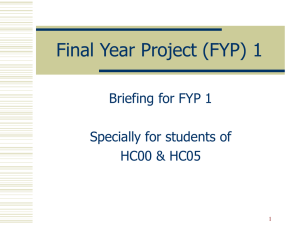 Final Year Project (FYP) 1