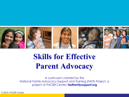Six Skills for Effective Parent Advocacy