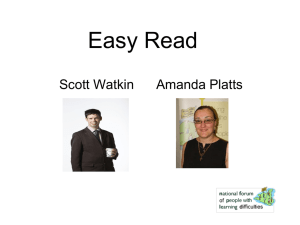 Easy read - Pathways Associates & NWTDT