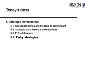 Lecture: Entry strategies