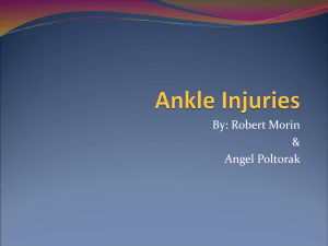 4 types of ankle injuries