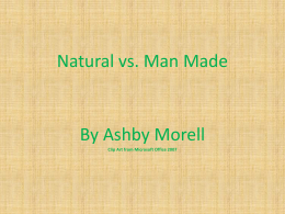 Natural vs Man-made resources