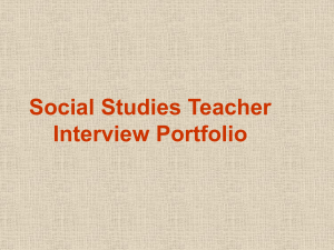 Social Studies Teacher Interview Portfolio