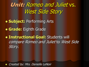 West Side STory PowerPoint - Mrs. LeNoir`s General Music and