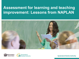 Assessment for learning and teaching improvement: Lessons from