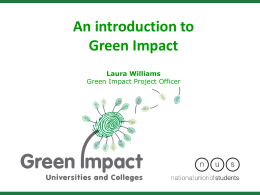 An Introduction to Green Impact - Blackpool and The Fylde College