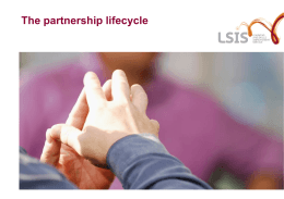 Partnership lifecycle
