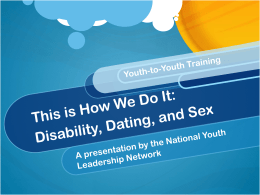Powerpoint - The National Youth Leadership Network