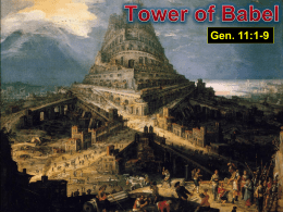 The Tower of Babel - Radford Church of Christ