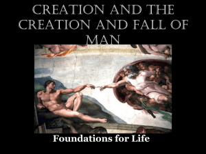 The Creation and Fall of Man
